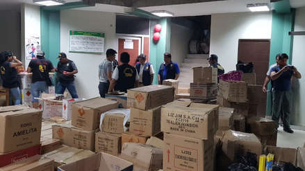 Año Nuevo | Incautan 5 toneladas de pirotécnicos que se iban a entregar en diferentes mercados de Lambayeque
