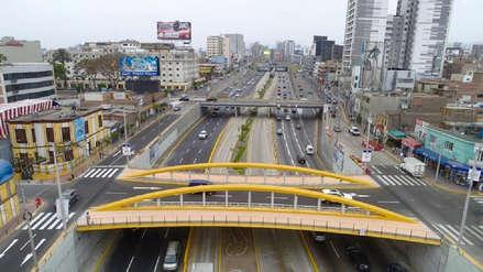 A días de dejar el cargo, Luis Castañeda entregó nuevo puente Leoncio Prado en la Vía Expresa