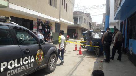 Dos personas fueron heridas de bala en su vivienda de San Martín de Porres