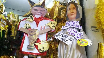 Año Nuevo 2019 | Muñecos de Christian Cueva y Keiko Fujimori causan sensación en Trujillo