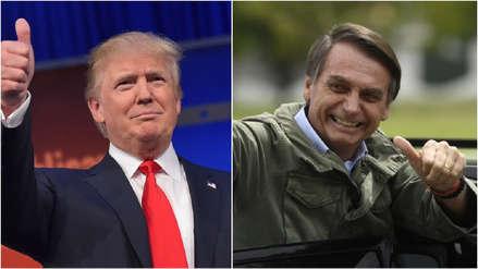 Bolsonaro le dice a Trump que