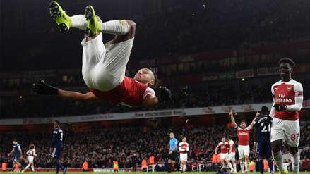 Arsenal goleó 4-1 a Fulham de la mano de Aubameyang