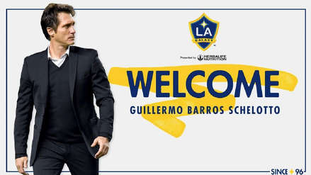 Guillermo Barros Schelotto fue oficializado como nuevo entrenador de Los Ángeles Galaxy