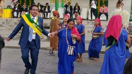 Nuevas autoridades de Chanchamayo cantaron el Himno Nacional en asháninka en juramentación