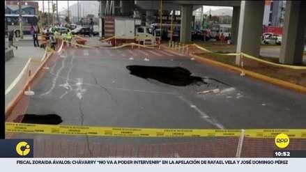 San Juan de Lurigancho: enorme forado en la avenida Próceres de la Independencia