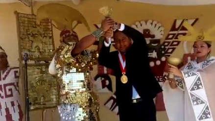 El 'Señor de Sipán' entregó cetro a nuevo alcalde de Lambayeque