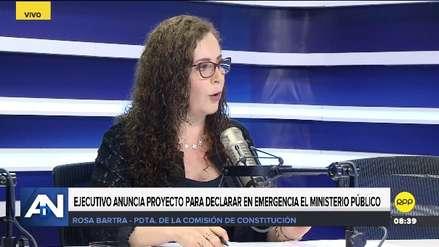 Rosa Bartra: Proyecto de ley que declara en emergencia el Ministerio Público