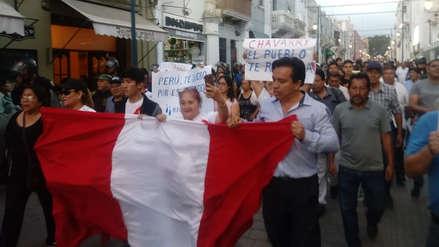 Marchan por segundo día consecutivo para exigir la salida de Chávarry en Trujillo