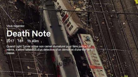 Netflix causa polémica en Bélgica por usar imágenes reales de una tragedia ferroviaria en el filme Death Note