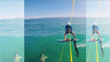 ¡Impresionante! deportista choca contra un tiburón en entrenamientos para Juegos Panamericanos