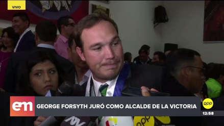 """George Forsyth tras jurar como alcalde de La Victoria: """"Estamos totalmente quebrados"""""""