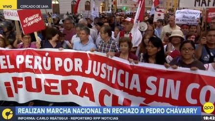 Pedro Chávarry | Se inició la marcha para exigir la renuncia del fiscal de la Nación