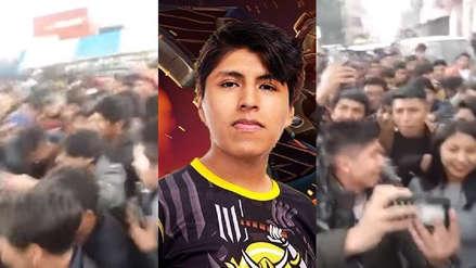 Dota 2 | Jugador profesional Vann llega a Juliaca y es recibido por una multitud de fanáticos