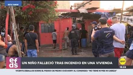 Un niño de seis años murió en incendio de una casa en Barrios Altos
