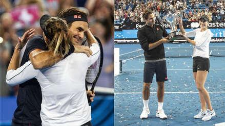 Federer se emocionó tras retener el título de Suiza en la Copa Hopman