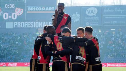 Con Luis Advíncula, Rayo Vallecano ganó 1-0 a Valladolid por la Liga de España