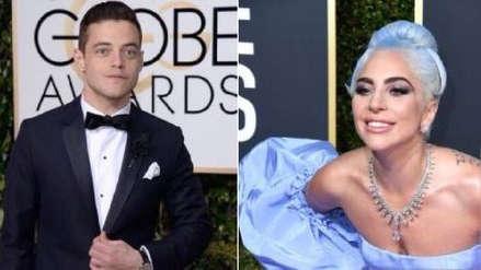 Globos de Oro 2019: El momento en que Rami Malek se presenta ante Lady Gaga