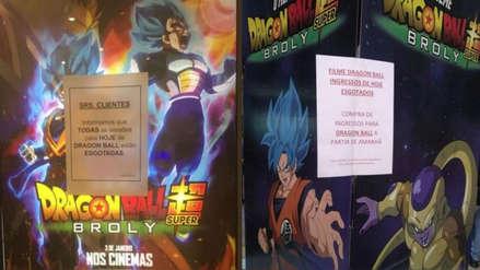 Dragon Ball Super: Broly logró récords de taquilla en su primer día en Sudamérica