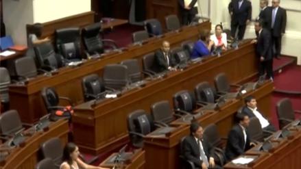 Fuerza Popular abandonó Pleno del Congreso tras cruce de palabras entre Alberto de Belaunde y Luz Salgado
