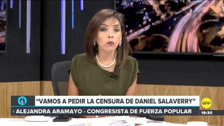 Alejandra Aramayo dijo que Fuerza Popular solicitará censura contra Daniel Salaverry