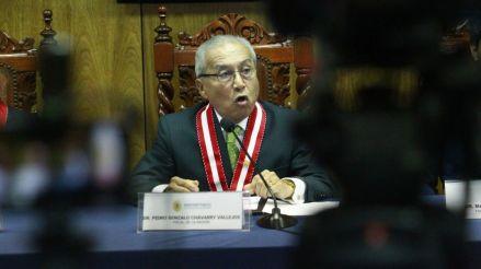 Pedro Chávarry anuncia su renuncia al cargo de Fiscal de la Nación