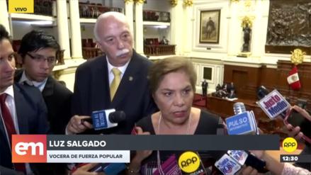 Carlos Tubino y Luz Salgado responsabilizaron a Daniel Salaverry por incidentes en el Pleno