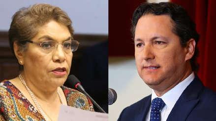 """Luz Salgado responde críticas de Daniel Salaverry: """"Más lamentamos que agende proyectos que están en debate"""""""