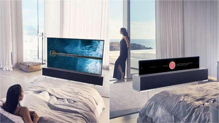 LG presentó el primer televisor OLED enrollable del mundo