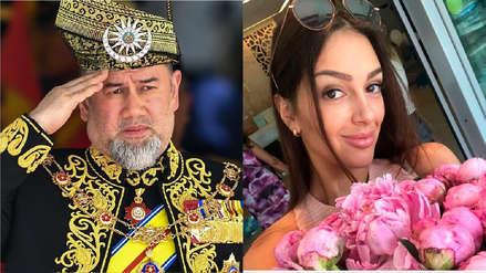 Rey de Malasia abdicó a su trono luego de casarse en secreto con una modelo rusa