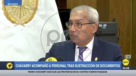Pedro Chávarry dice que encuentro con asesora luego de que retiró documentos