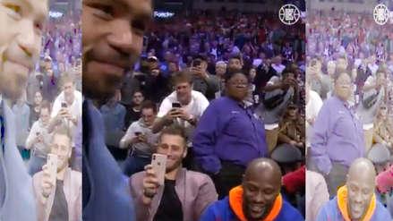 Manny Pacquiao y Floyd Mayweather se encontraron en un partido de la NBA