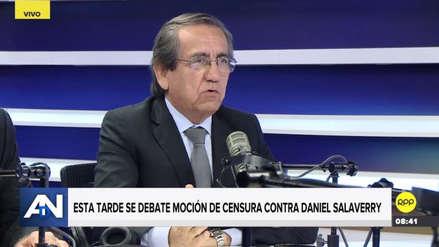 """Del Castillo cree que no se debe admitir a debate la censura a Salaverry: """"Será otro papelón del Congreso"""""""