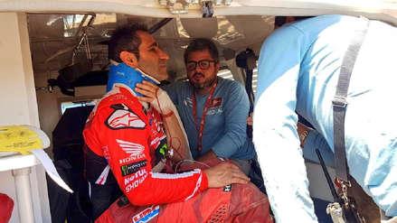 Tremendo susto: el portugués Paulo Goncalves abandonó el Dakar por una fuerte caída