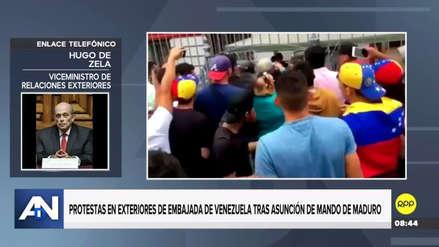 Dos personas fueron detenidas por los incidentes en la Embajada de Venezuela en Lima