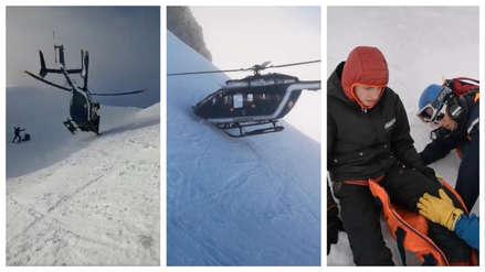 La arriesgada maniobra de un piloto para rescatar a un esquiador herido en los Alpes de Francia [VIDEO]