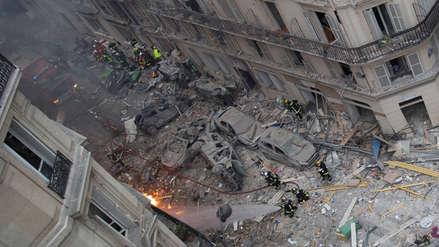 Equipos de rescate hallaron el cuerpo de una mujer sepultada por la explosión en París