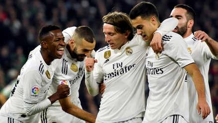Real Madrid obtuvo un agónico triunfo de visita frente al Real Betis