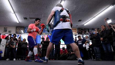 Manny Pacquiao previo a la pelea con Adrien Broner: