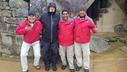 Robert de Niro paseó por Machu Picchu a pesar del mal tiempo [VIDEO]
