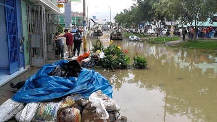 Así amaneció la zona afectada por aniego de aguas residuales en San Juan de Lurigancho