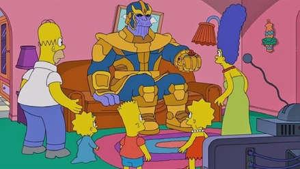 Thanos convierte en cenizas a Los Simpson en la nueva escena del sofá [VIDEO]