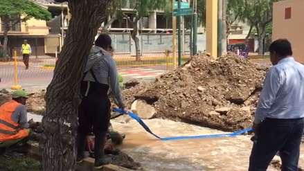 Surco: Sedapal restringe servicio de agua en zona afectada por aniego