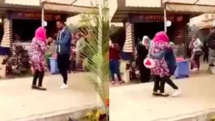 """""""La chica del abrazo"""": Joven fue expulsada de su universidad por abrazar a un hombre"""