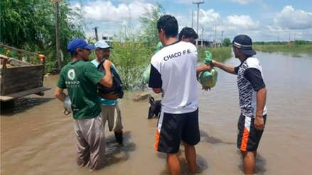 Equipo argentino ayudó a una localidad que sufrió inundaciones