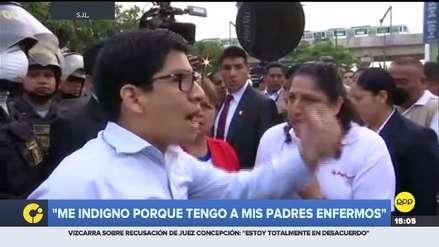Joven increpó a ministra de Ambiente por aniego en San Juan de Lurigancho