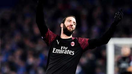 Gonzalo Higuaín dejará el Milan y jugará cedido en el Chelsea