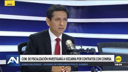 Meléndez sobre investigación que involucra a Vizcarra: