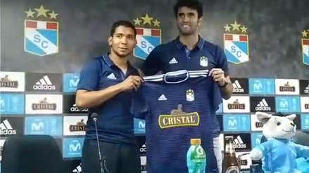 Cristian Palacios tras su presentación oficial en Sporting Cristal