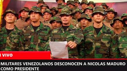 Militares venezolanos respaldan desde Lima a Juan Guaidó y desconocen a Maduro como presidente