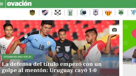 Perú vs. Uruguay: así informó la prensa uruguaya sobre la victoria de la bicolor en el Sudamericano Sub 20